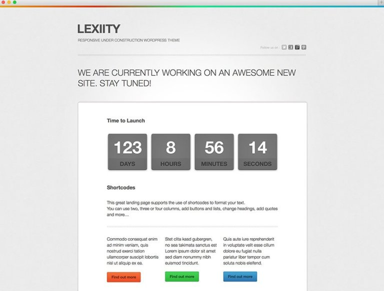 lexiity-under-construction-theme